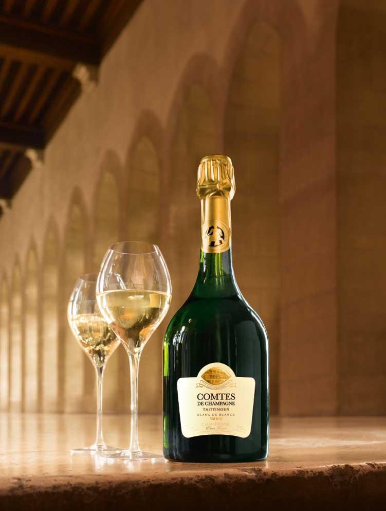 Buy Taittinger Comtes de Champagne Grand Crus Blanc de Blancs 750ml (France) online from DeVine Cellars, Perth