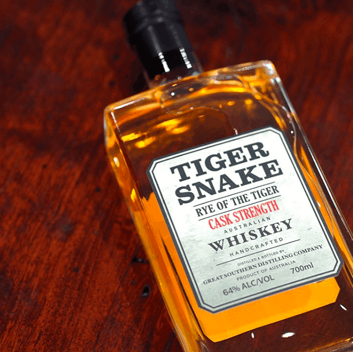 Tiger Snake 'Rye of the Tiger' Australian Whisky Cask Strength 700ml  (Albany, WA)