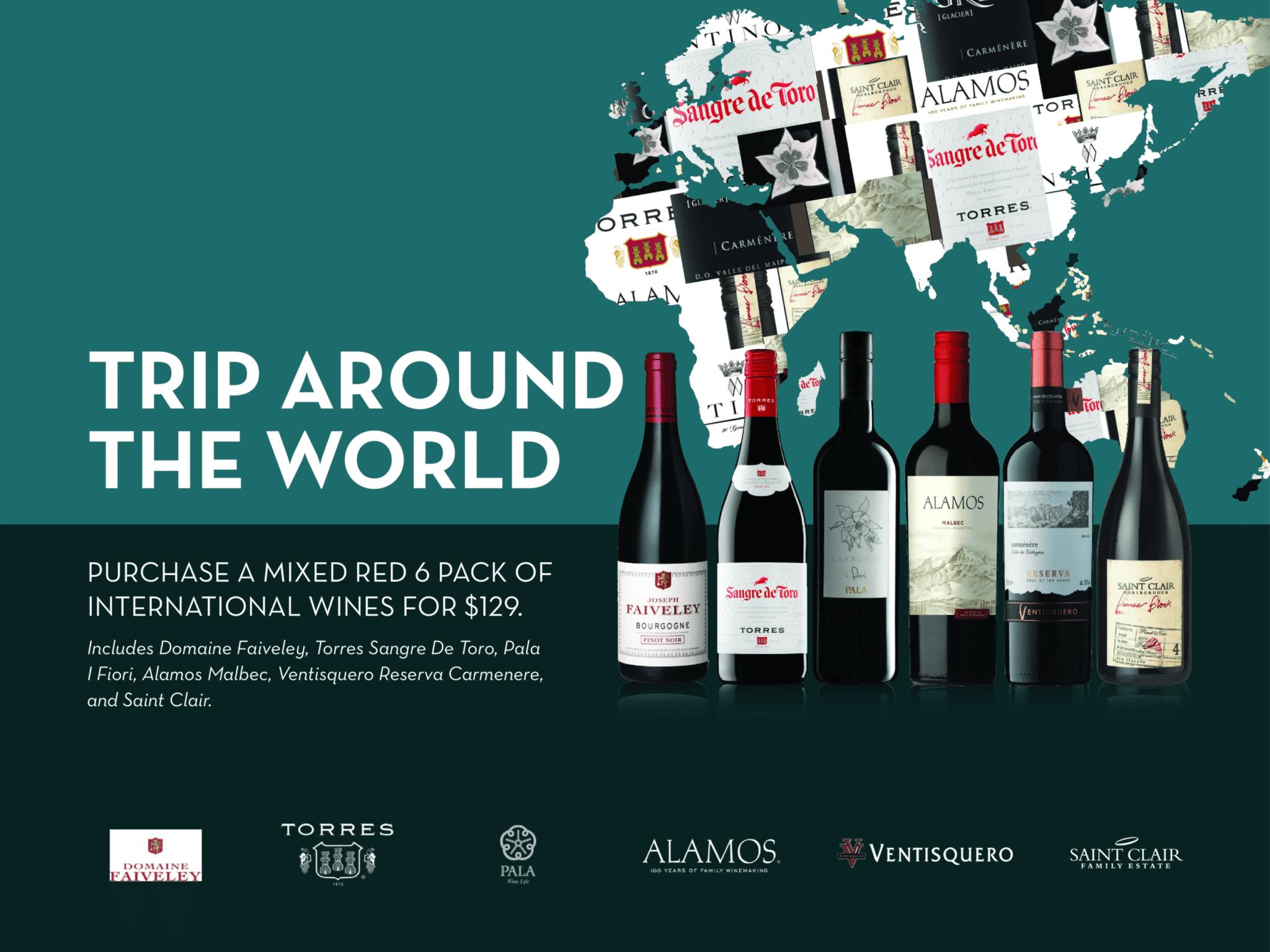 Trip around the world Red Wine 6pk